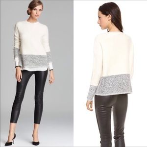 VINCE sweater xs cashmere wool and silk blk cream